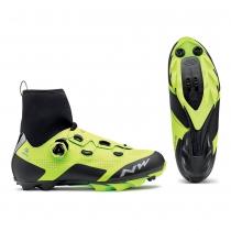 Zapatillas de Ciclismo RAPTOR ARCTIC GTX Gore Tex Amarillo Fluo-Negro NORTHWAVE