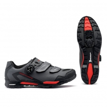 Zapatillas de Ciclismo OUTCROSS PLUS GTX Gore Tex Antracita-Rojo NORTHWAVAVE