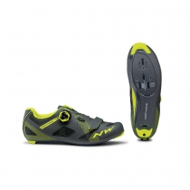 Zapatillas ciclismo STORM Antracita-Amarillo Fluo ROAD NORTHWAVE