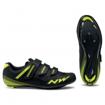Zapatillas ciclismo CORE Negro-Amarillo Fluo ROAD NORTHWAVE