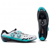 Zapatillas ciclismo EXTREME PRO Blanco-Azul ROAD NORTHWAVE