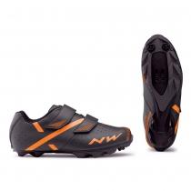 Zapatillas ciclismo SPIKE 2 Antracita-Naranja MTB-XC NORTHWAVE