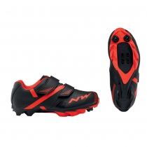 Zapatillas ciclismo HAMMER 2 JUNIOR Negro-Rojo MTB-XC NORTHWAVE