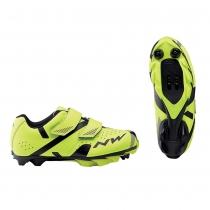 Zapatillas ciclismo HAMMER 2 JUNIOR Amarillo Fluo-Negro MTB-XC NORTHWAVE