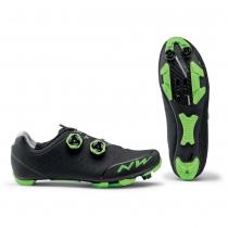 Zapatillas ciclismo REBEL 2 Negro-Verde MTB-XC NORTHWAVE