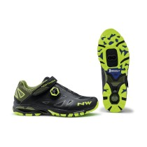 Zapatillas Northwave Spider Plus 2 Negra Amarilla Fluo