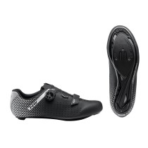 ZAPATILLAS NORTHWAVE CORE PLUS 2 WIDE NEGRA PLATA