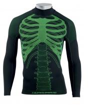Camiseta Int. m/l BODY FIT EVO Negro-Amarillo Fluo NORTHWAVE