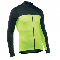 Maillot m/l FORCE 2 Negro-Amarillo Fluo NORTHWAVE