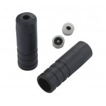 Tope sellado para funda de cambio ( 4 mm ) Plástico Negro ( 100 pcs ) JAGWIRE