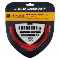 Kit SPORT XL cambio y desviador carretera/MTB SRAM/Shimano rojo JAGWIRE