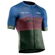Maillot m/c BLADE AIR Azul-Verde Forest