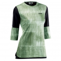 Maillot 3/4 EDGE WMN Verde Forest-Negro