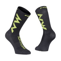 CALCETINES EXTREME AIR NEGRO-LIMA FLUO NORTHWAVE