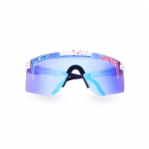 Gafas Pit Viper Absolute Freedom Doble Áncho Reflectantes Azul Revo