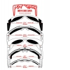 Gafas Pit Viper Merika 2000 Reflectantes Z87 Anti Vaho Plata