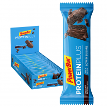 BARRITA POWERBAR PROTEINPLUS LOW SUGAR CHOCOLATE BROWNIE 30 UNIDADES