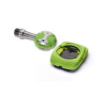 Pedales de Carretera Speedplay Zero Titanium color Team Verde con Calas Walkable