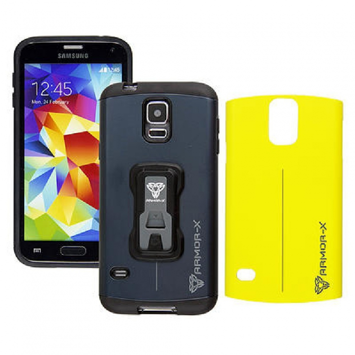 Case X + Sop. Man. Samsung Galaxy S5 Azul