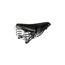 Sillin Brooks B66 Chrome Para Bicicleta Color Negro