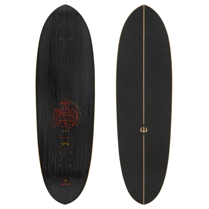 "33"" Deck Haedron No.6 with grip tape"
