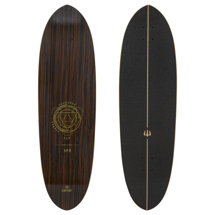 "35"" Deck Haedron No.9 with grip tape"
