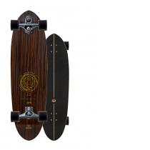 """SurfSkate Carver 35"""" Haedron Nº9 Con Ejes C7 Graphite"""