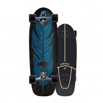 """SurfSkate Carver 31.25"""" Knox Quill con Ejes C7 Color Graphite"""