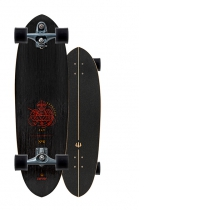 """SurfSkate Carver 33"""" Haedron Nº 6 Con Ejes C7 Graphite"""