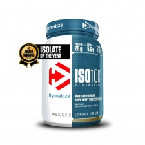 Proteína de suero de leche ISO100 COOKIES & CREAM 1 bote*900gr DYMATIZE