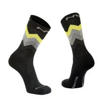 Calcetín Alto CORE Negro-Amarillo Fluo