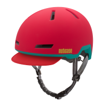 Casco Ember Red (Mate), Tracer de NUTCASE.