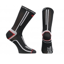 Calcetín COMPRESSION 3 uni Negro-Rojo