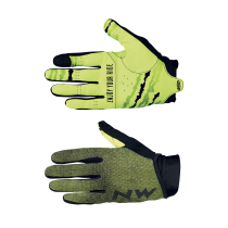 Guante Largo MTB AIR 3 Negro-Amarillo Fluo