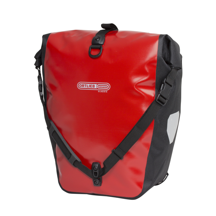 BACK-ROLLER CLASSIC QL2.1  Alforja Travel (2x)20Litros Rojo-Negro PAR ORTLIEB
