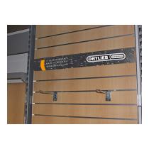 ORTLIEB Banner Horizontal - Slatwall - 90x14cm PVC