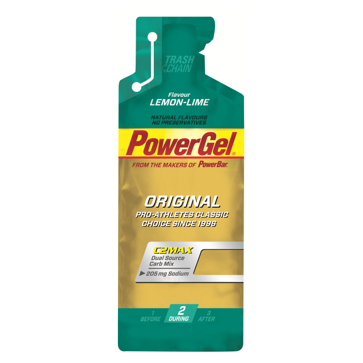 Gel de hidratos de carbono líquido POWERGEL+Sodio LIMON 24 u POWERBAR