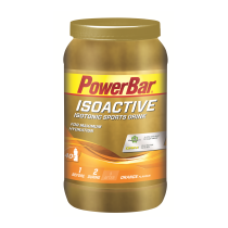 Bebida isotónica  BOTE ISOACTIVE 1320 gr NARANJA POWERBAR