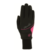 Guante WALLIS Lady Negro-Rosa ROECKL